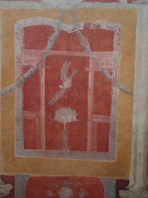 Domus di Lucceia Primitiva, dettaglio della parete ovest