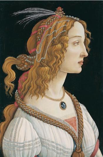Sandro Botticelli, Ritratto di Simonetta Vespucci come Ninfa