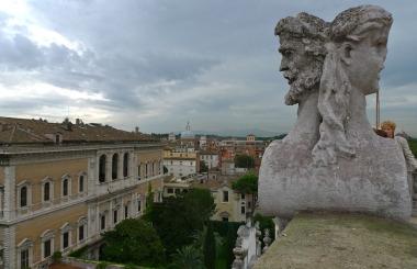 Terrazza con vista su Roma
