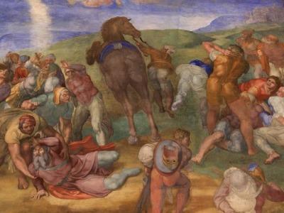Michelangelo, Conversione di Saulo, dettaglio