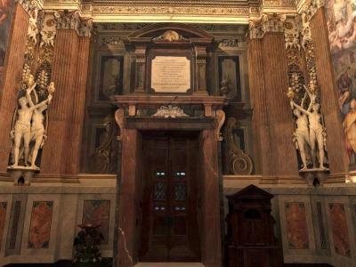 Cappella Paolina, veduta parete ingresso